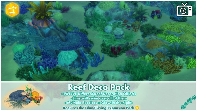 Reef Deco Pack by Bakie at Mod The Sims image 923 670x377 Sims 4 Updates
