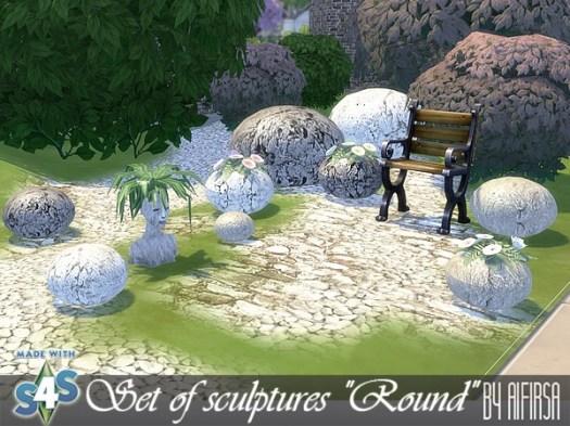 Round sculptures set at Aifirsa image 926 Sims 4 Updates