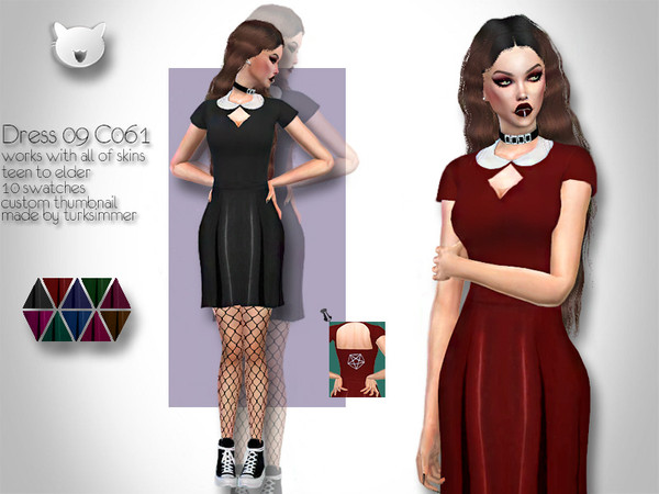 Dress 09 C061 by turksimmer at TSR image 930 Sims 4 Updates
