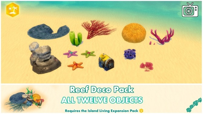 Reef Deco Pack by Bakie at Mod The Sims image 933 670x377 Sims 4 Updates