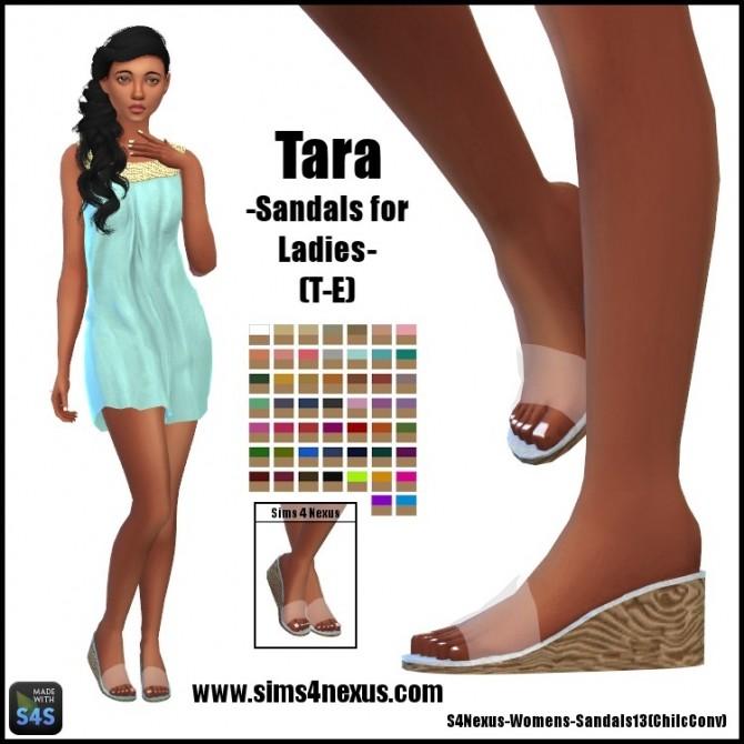Sims 4 Tara sandals by SamanthaGump at Sims 4 Nexus