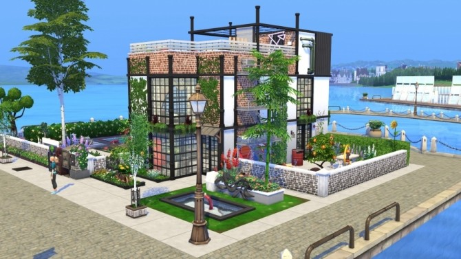Sims 4 Stay loft by Bloup at Sims Artists