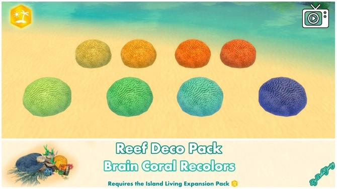Reef Deco Pack by Bakie at Mod The Sims image 953 670x377 Sims 4 Updates