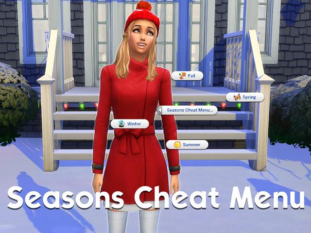 Sims 4 Seasons Cheat Menu at MSQ Sims
