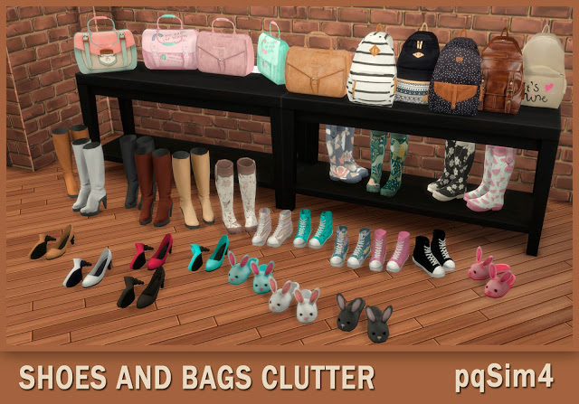 Shoes And Bags Clutter at pqSims4 image 957 Sims 4 Updates