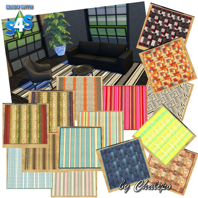 Sims 4 Square rugs by Chalipo at All 4 Sims