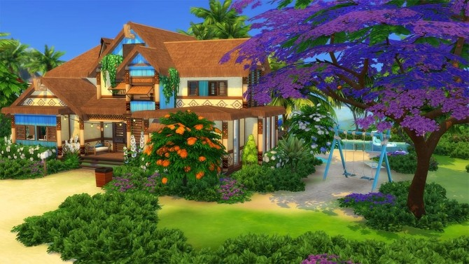 Ohana Mansion by Cassie Flouf at L'UniverSims image 9621 670x377 Sims 4 Updates