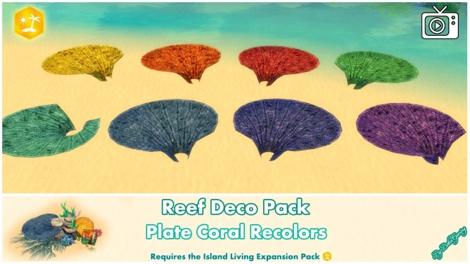 Reef Deco Pack by Bakie at Mod The Sims image 963 670x377 Sims 4 Updates