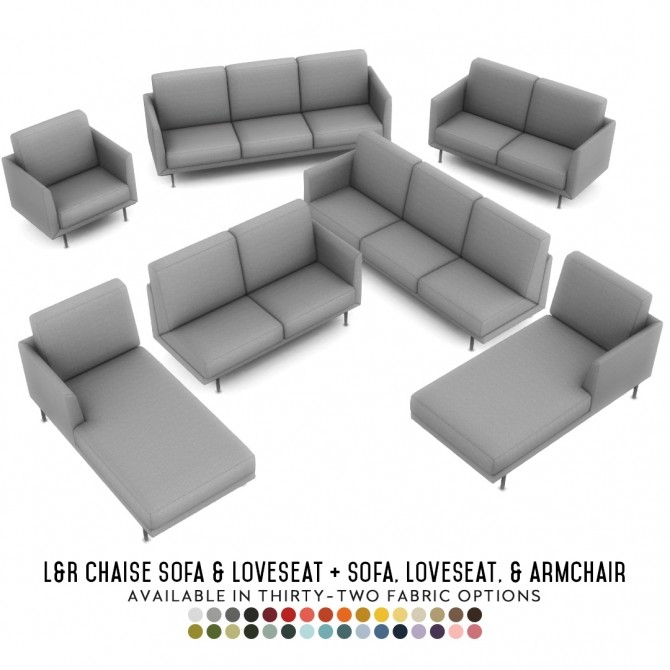 Harlow Chaise Lounges Contemporary Seating Set at Simsational Designs image 978 670x670 Sims 4 Updates
