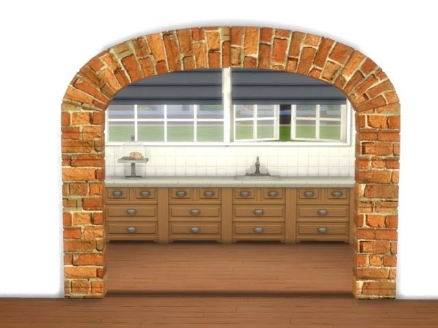 Sims 4 Double Arch by Oldbox at All 4 Sims