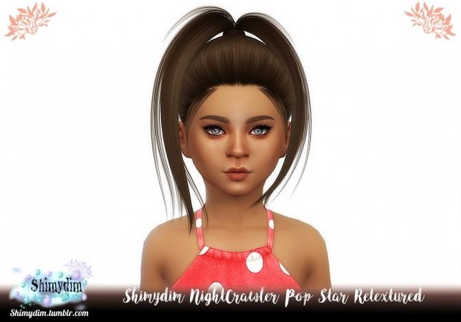Sims 4 NightCrawler Pop Star Hair Retexture + Child Naturals + Unnaturals at Shimydim Sims