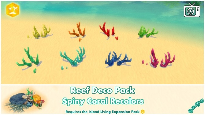 Reef Deco Pack by Bakie at Mod The Sims image 983 670x377 Sims 4 Updates