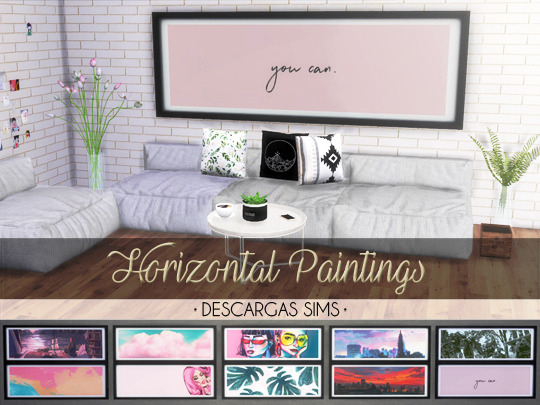 Horizontal Paintings at Descargas Sims image 987 Sims 4 Updates