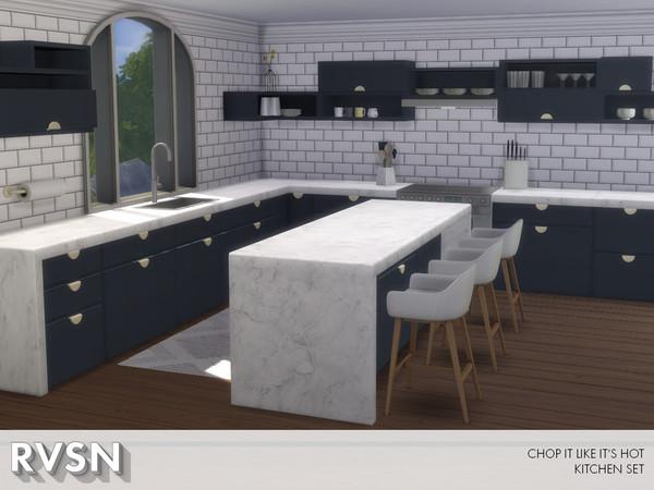 Chop It Like Its Hot Kitchen Set by RAVASHEEN at TSR image 990 Sims 4 Updates