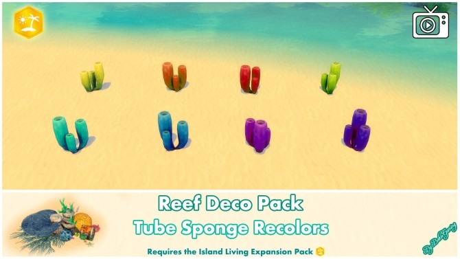 Reef Deco Pack by Bakie at Mod The Sims image 993 670x377 Sims 4 Updates