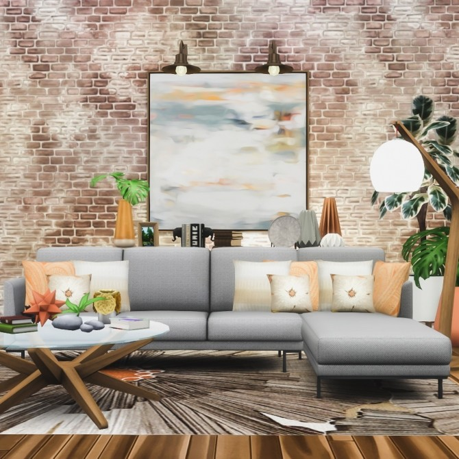 Sims 4 Harlow Chaise Lounges Contemporary Seating Set at Simsational Designs