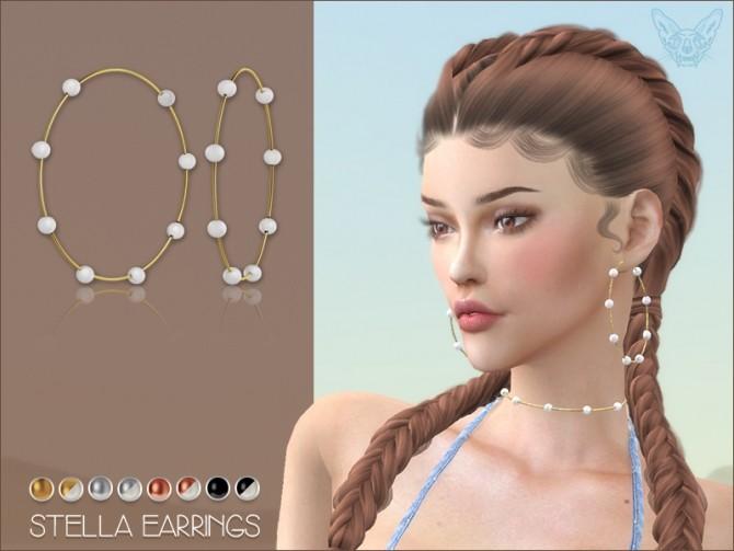 Sims 4 Stella Earrings at Giulietta