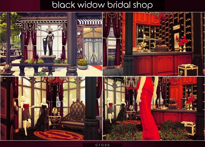 Black Widow Bridal Shop at Cross Design image 1008 670x479 Sims 4 Updates