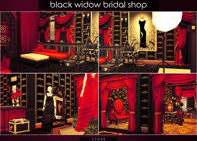 Black Widow Bridal Shop at Cross Design image 10212 670x479 Sims 4 Updates