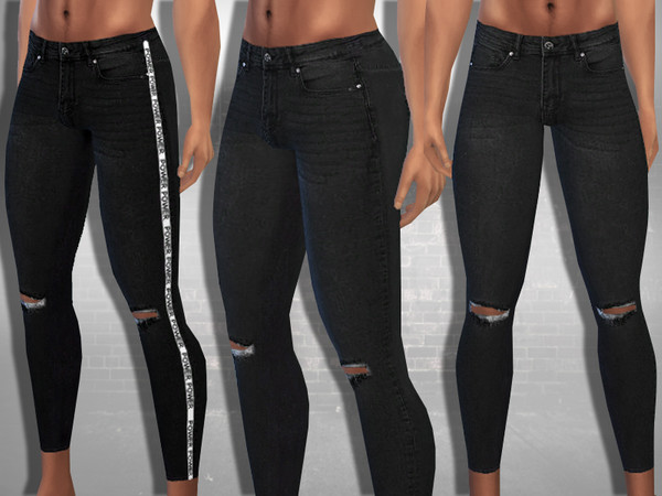 Two Style Black Ripped Jeans by Saliwa at TSR image 1026 Sims 4 Updates