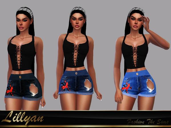 Short Jeans Rafaella by LYLLYAN at TSR image 1028 Sims 4 Updates