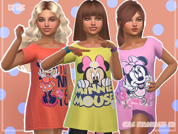 Sims 4 Nightgowns For Girls 010 by Pinkzombiecupcakes at TSR