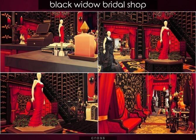 Sims 4 Black Widow Bridal Shop at Cross Design