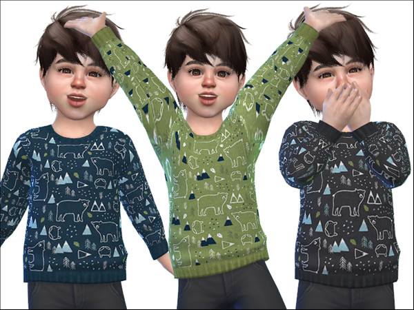 Sims 4 Sweater for Toddler Boys 01 by Little Things at TSR
