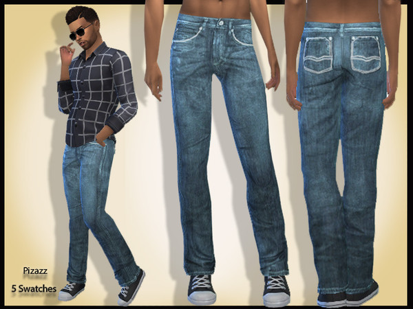 Mens Jeans V 001 by pizazz at TSR image 1039 Sims 4 Updates