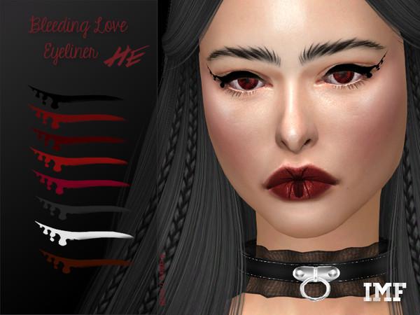 IMF Bleeding Love Eyeliner N.59 by IzzieMcFire at TSR image 1050 Sims 4 Updates