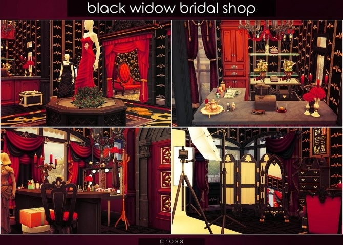 Black Widow Bridal Shop at Cross Design image 10510 670x479 Sims 4 Updates