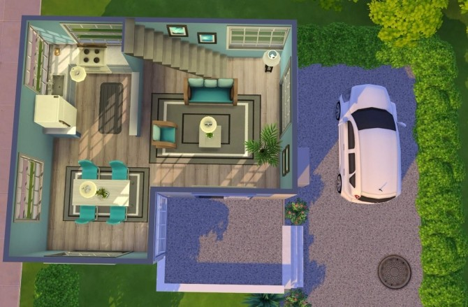 Modern starter house at Fab Flubs image 1083 670x439 Sims 4 Updates