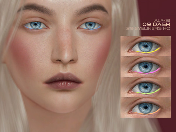 Dash Eyeliner 09 HQ by Alf si at TSR image 10914 Sims 4 Updates