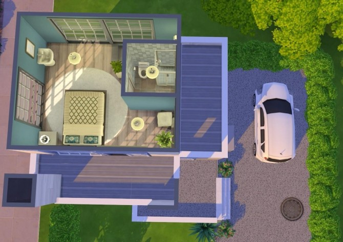 Modern starter house at Fab Flubs image 1093 670x472 Sims 4 Updates