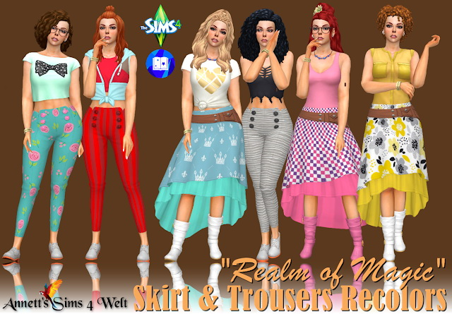 Realm of Magic Skirt & Trousers Recolors at Annett's Sims 4 Welt image 1098 Sims 4 Updates