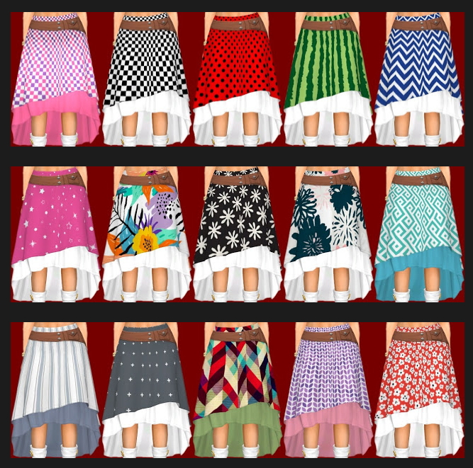 Sims 4 Realm of Magic Skirt & Trousers Recolors at Annett's Sims 4 Welt