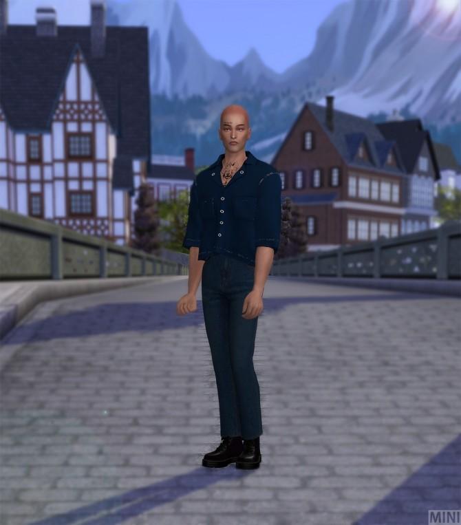 Sims 4 Topstitch Two Pocket Shirts M top at MINI SIMS