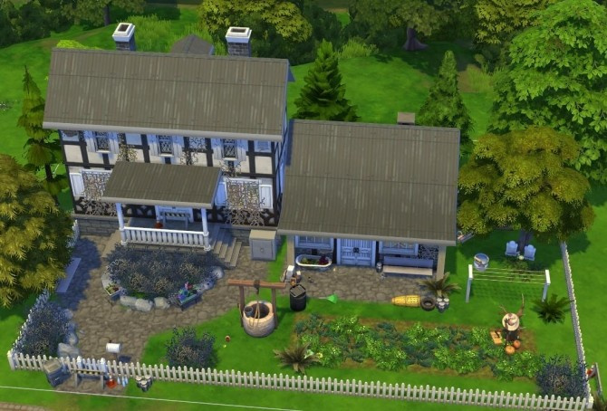 Sims 4 Abandoned farm house at Fab Flubs