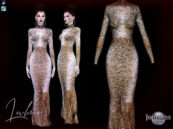 Levline Long dress by jomsims at TSR image 1120 Sims 4 Updates