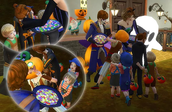 Halloween Poses at A luckyday image 1121 Sims 4 Updates
