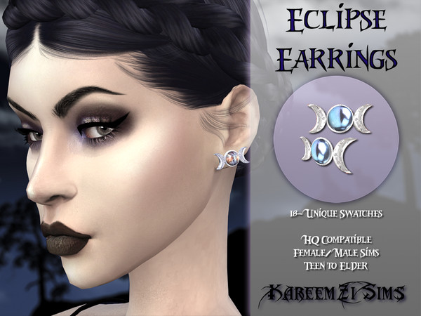 Eclipse Earrings by KareemZiSims at TSR image 1129 Sims 4 Updates