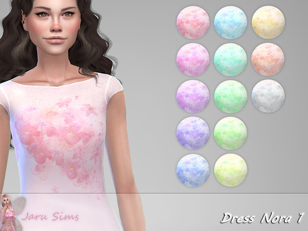 Sims 4 Dress Nora 1 by Jaru Sims at TSR