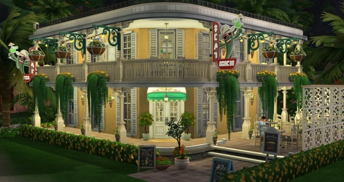 New Orleans cafe at Fab Flubs image 1133 670x355 Sims 4 Updates