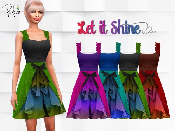 Sims 4 Let it Shine Dress by RobertaPLobo at TSR