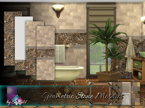 Geometric Stone Mosaics by emerald at TSR image 1140 Sims 4 Updates