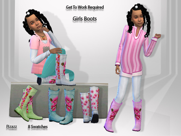 Sims 4 Girl Boots by pizazz at TSR