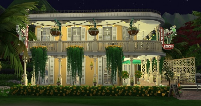 Sims 4 New Orleans cafe at Fab Flubs
