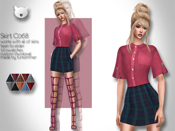 Skirt C068 by turksimmer at TSR image 1148 Sims 4 Updates