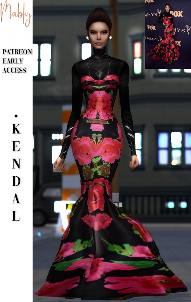 KENDAL dress (P) at Mably Store image 115 633x1000 Sims 4 Updates
