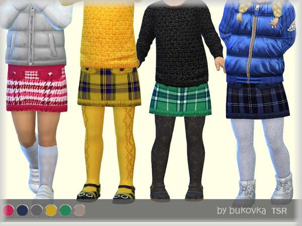 Sims 4 Plaid Skirt by bukovka at TSR